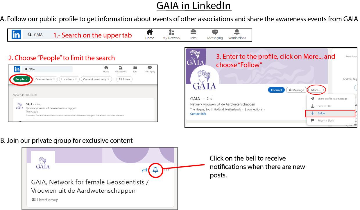 Update over LinkedIn-gebruik / Update on LinkedIn use